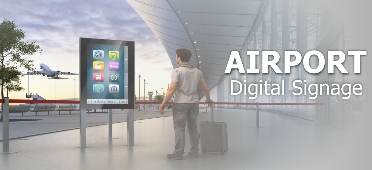 Microsign Airport digital signage solution