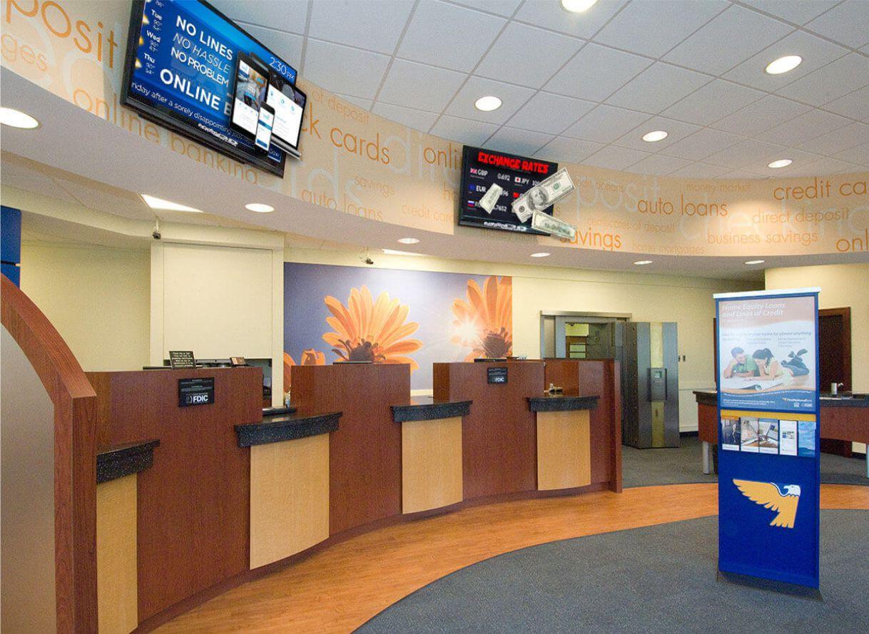 bank digital signage