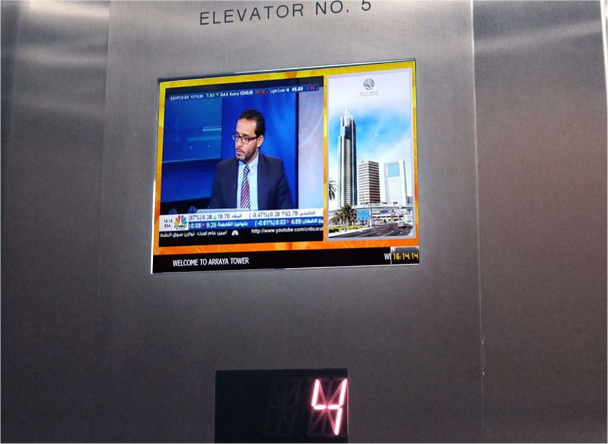 Microsign hotel inside lift Signage Solution