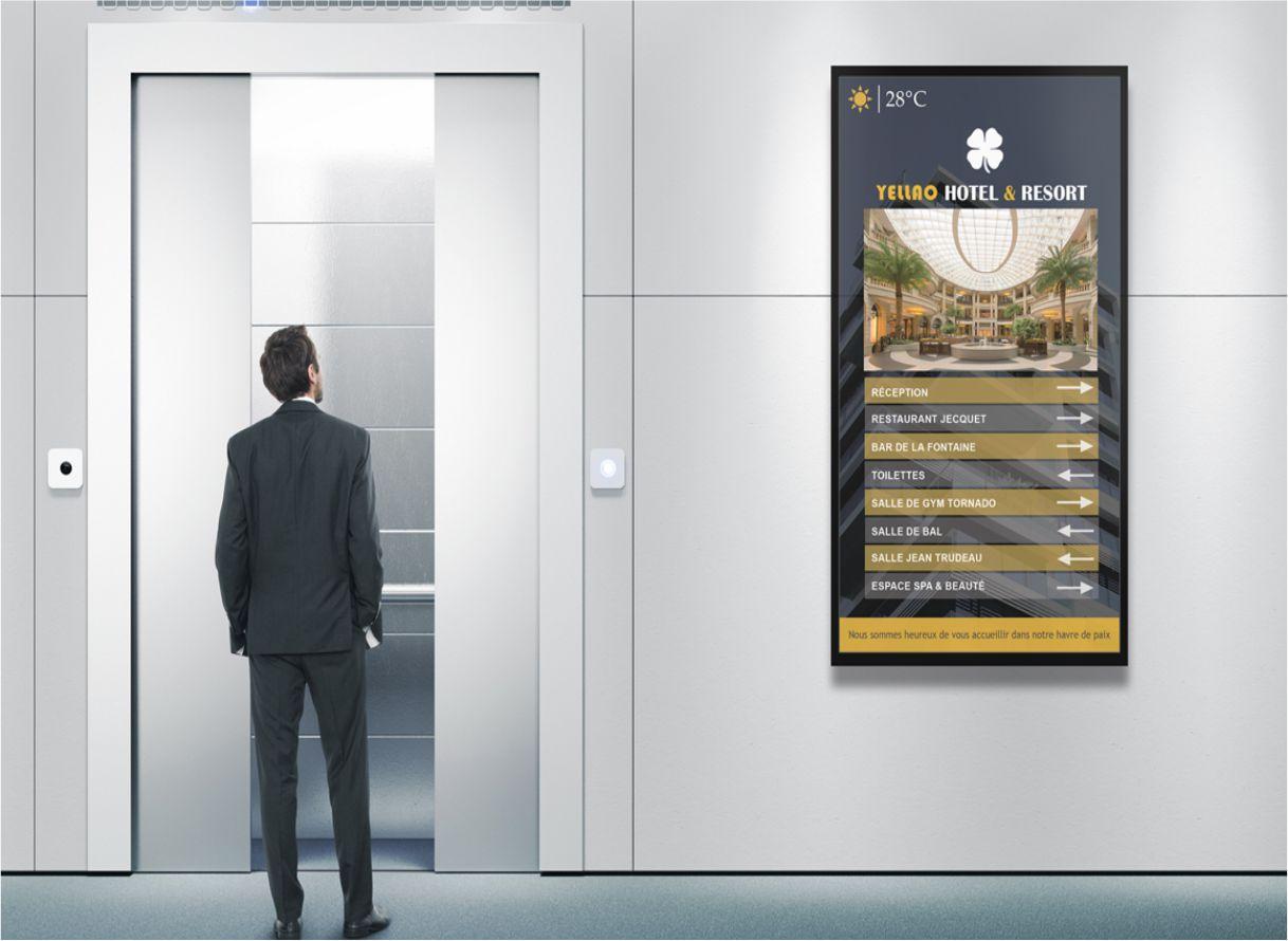hotel lift Signage Solution